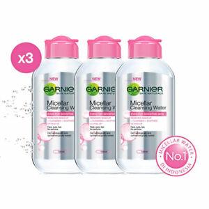 [GARNIER] Micellar Water Pink Cleansing Makeup Sensitive Skin 3 x 125ml