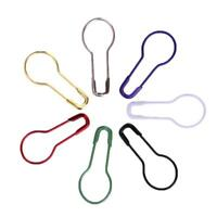 100pcs Stricken Pin Tag Häkeln Locking Maschenmarkierer Metall Calabash Form NEU