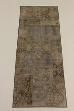 Exclusiv Patchwork Jean Wash Antik Look Perser Teppich Orientteppich 2,19 X 0,81