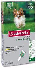 Bayer Advantix pour Chiens Fin aux 4 kg - 4 Pipettes Anti-puces