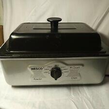 New listing New Open Box Nesco 4 Qt Roaster Oven Gray Enamel Black Metalwear vintage