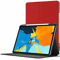 Apple iPad Pro 11 inch 2018 Smart Case | Protective Cover Stand | Red + Stylus
