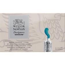 Winsor & newton designers gouache primaire couleur set 6x14ml tubes pour artiste
