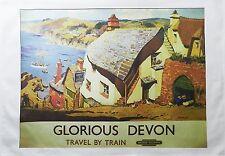 Glorious DEVON-Stile Retrò Viaggio POSTER Grande Asciugamano di cotone