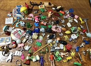 150 pc Cracker Jack Toy Vintage Lot Gumball Prize Charms Plastic Metal