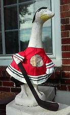 GOOSE CLOTHES 4 LAWN GOOSE CHICAGO BLACKHAWKS HOCKEY CEMENT PLASTIC GARDEN