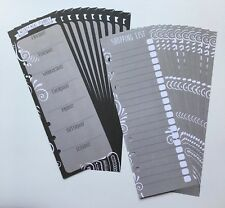 Filofax A5 Organiser Planner Note Paper - Silver Weekly List & Check Sheets x20