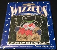 Janlynn Wizzers Sam The Snowman Seller Ornament Counted Cross Stitch Kit SGP0936