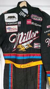 1996 Race worn and autographed driving suit by NHRA 3x Champ Larry Dixon