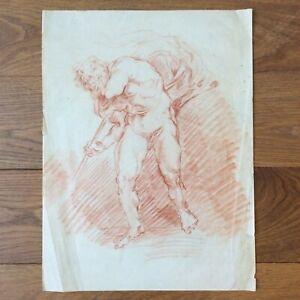 Dessin Original Sanguine Etude de Nu à l'Antique Début XXème - Original Drawing