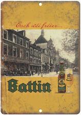 """Battin Beer Man Cave Ad Décor 10"""" x 7"""" Reproduction Metal Sign E253"""