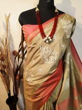 Bollywood Sari Women's Special Wear Indian Wear Designer Sari Jute silk I 13-2