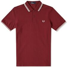 Clearance Fred Perry Red Burgundy Twin Tipped Polo Red M3600 L Large