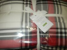 Pottery Barn Hamilton Plaid King Comforter + 2 Euro Shams NIP