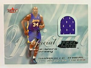 2000-01 Fleer Tradition SHAQUILLE O'NEAL Feel the Game Jersey, Lakers HOF