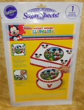 Mickey Mouse,Sugar Sheet,Edible Decorating Paper Set,Wilton,710-7069,Disney,