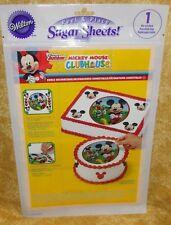 Mickey Mouse,Sugar Sheet,Edible Decorating Paper Set,Wilton,710-7069,Disney,