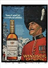 Windsor Canadian Whisky Vintage Style Advertising Sign Wall Plaque Vintage Sign