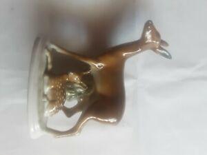 Porzellan Reh mit Kitz gestempelt, siehe Fotos