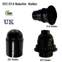 Screw E27/E14 Light Bulb Bakelite Vintage Lamp Holder Base Pendant Socket UK