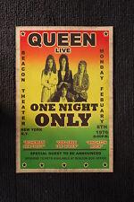 Queen 1977 Tour Poster New York City