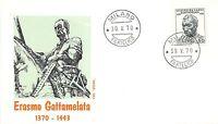 FDC Roma - Italia - Repubblica - 1970 - Il Gattamelata - NVG - annullo Milano