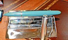 Parker 51 Grey Fountain Pen Ink Converter Filler Silver Arrow Clip & Cap USA