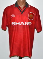 MANCHESTER UNITED 1994/1995/1996 HOME FOOTBALL SHIRT JERSEY UMBRO SIZE M ADULT