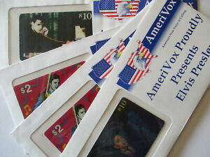 USA Phone Cards Amerivox Elvis 4 Piece Orig. Packaging 24$