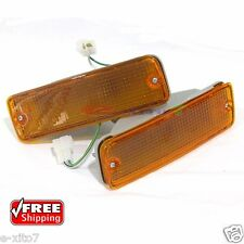 1988-97 Toyota Hilux LN85 LN106 1Pair Front Indicator Bumper Amber Signal Lights