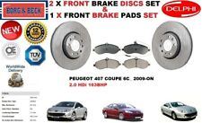 FOR PEUGEOT 407 COUPE 2.0HDi 2009- FRONT BRAKE DISCS SET + DISC PADS KIT