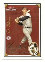 2001 FLEER RED SOX 100TH TED WILLIAMS YAWKEY'S HEROES INSERT CARD
