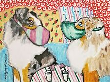 Miniature American Shepherd Quarantine Dog Art Print 5 x 7 Mini Aussie by Ksams
