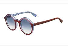 d1c1b7799389 JIMMY CHOO GLAM s Grey Gradient Pink Glitter Bordeaux Round Sunglasses  425