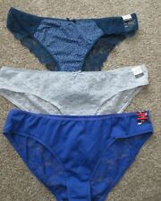 Jaclyn Smith Nylon Lace Hipster French Cut Hi leg panties Nwt xl/xxl lot of 3