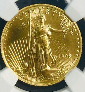 1998 $10 1/4 OZ AMERICAN GOLD EAGLE - MS69 NGC