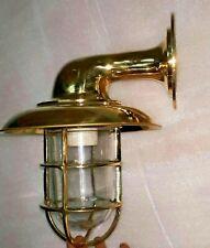 Replica ship marine  brass passage light with deflector cover C11