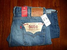 $148 LEVIS 505 C SLIM STRAIGHT LEG ZIP FLY RED LINE SELVEDGE DENIM JEANS 38/32