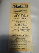 Wendella - 1947 vintage Chicago Shoreline cruises