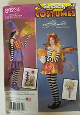 S0234 Simplicity Costume Pattern Amy Brown Whimsical Funky Candy Corn Fairy 6-14