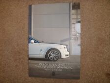 2018 ROLLS ROYCE GHOST EWB PRIVATE JET ONE OF 10 LIMITED EDITION ASIA BROCHURE