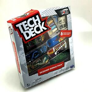 Tech Deck Sk8shop SANTA CRUZ | Bonus Pack Bundle 6 Skateboards | World Edition