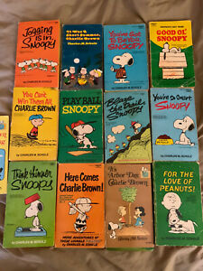 VINTAGE Schultz Peanuts Charlie Brown Snoopy & Gang Lot 13 PB Comic Books