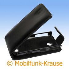 Funda abatible, funda, estuche, funda para móvil F. Samsung gt-s5620/s5620 (negro)