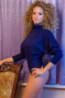 Ladies Thermal Carded Cotton Bodysuit Turtle Neck Long Sleeve Thong Leotard 1577