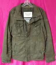 NWT Abercrombie & Fitch Mens Vintage Olive Sawtooth Twill Military Jacket Coat M