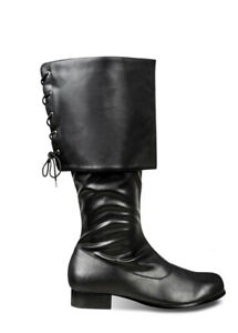 Adult Mens Black Pirate Boots