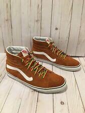 Vans Men's Size 13 High Top Suede Skateboarding Shoes Camel Brown