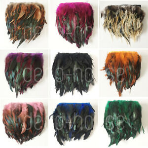 Rooster Rare Feathers Coque Fringe Craft Trim Sewing Costume Millinery Collar
