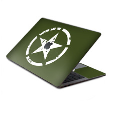 """Skin Decal Wrap for MacBook Pro 13"""" Retina Touch  Green Army Star Military"""